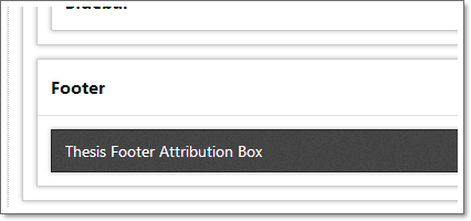 footer attibution box