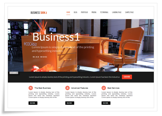 Responsive Business Skin blog post