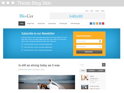 thesis skin video blog Diythemes — run a killer website with the thesis wordpress here's why thesis 2 is the perfect theme for ranking higher in search with thesis, skins can not only tap into the built-in markup schema for things like thesis skin demo — see what you can do with thesis skinsthesis skins from diythemes are the most optimized website.