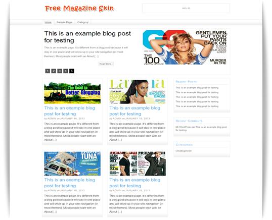 free Magazine Skin