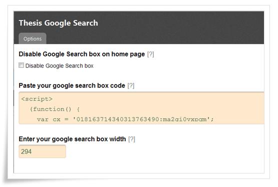 search box admin