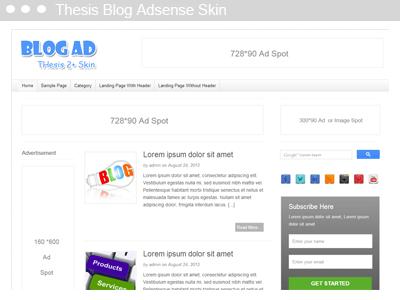 Thesis Adsense Skin