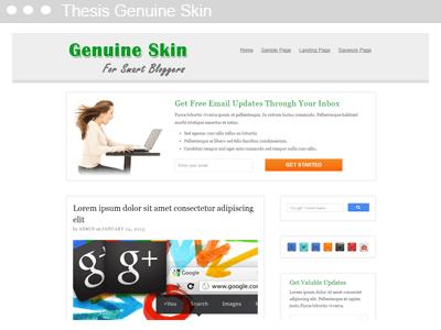 Thesis Genuine Skin