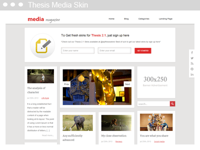 Thesis Media Skin