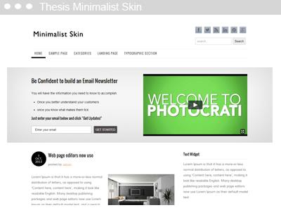 Thesis Minimalist Skin