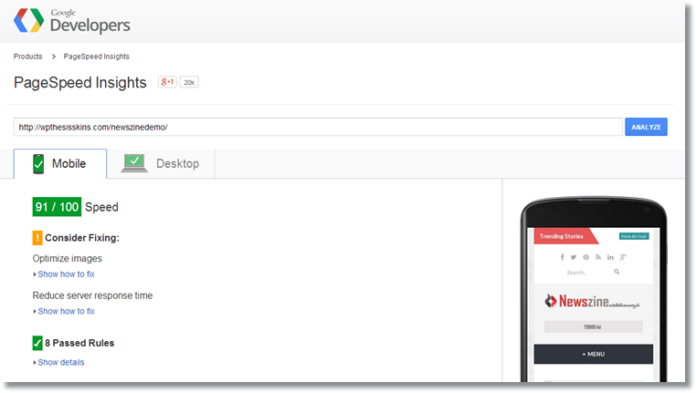 PageSpeed Insights-mobile