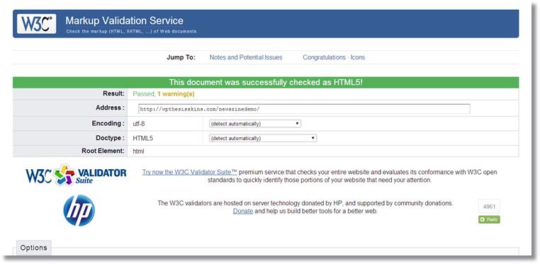 W3C Markup Validator -html5