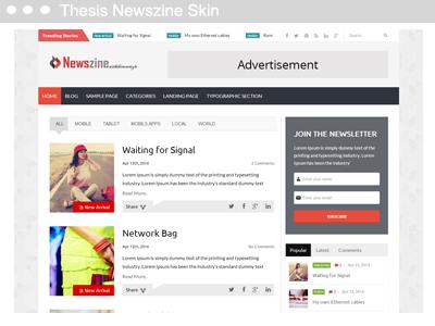 Thesis Newszine Skin