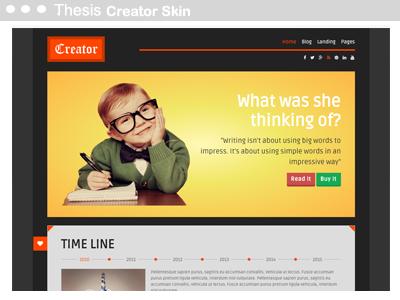Thesis Creator Skin