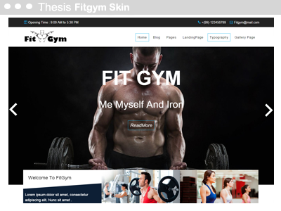 Thesis fitgym Skin