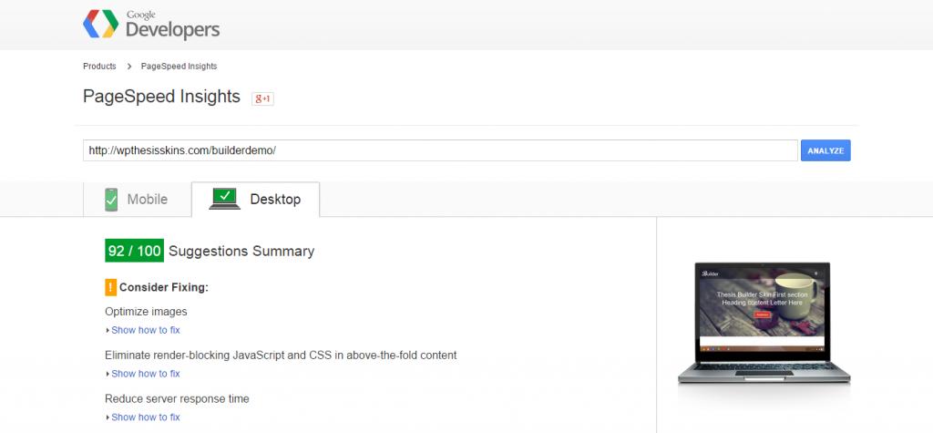 PageSpeed Insights-desktop