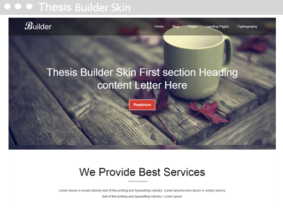 Thesis Builder Skin
